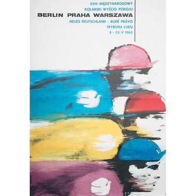 Peace Race Poster 1965 Poster by Maciej Urbaniec