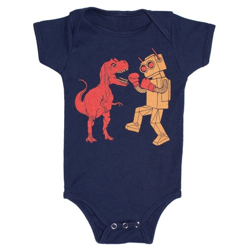 dinosaur_vs_robot_baby_onesie_bodysuit_dino_trex_tyrannosaurus_rex_jurassic_park
