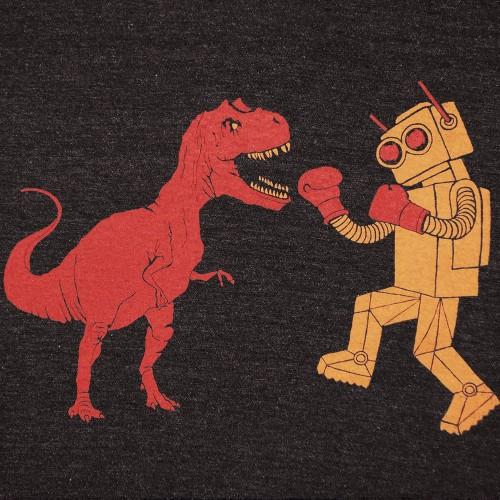 dinosaur_vs_robot_tshirt_dino_tee_shirt_trex_tyrannosaurus_rex gnome