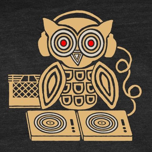 high_resolution_headphones_owl_dj_turntable_tshirt gnome