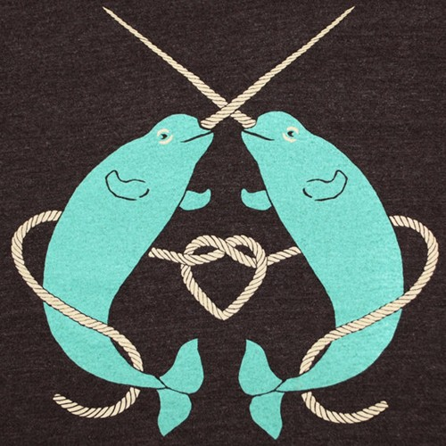 narwhals_tshirt_narwhal_dolphin_whale gnome
