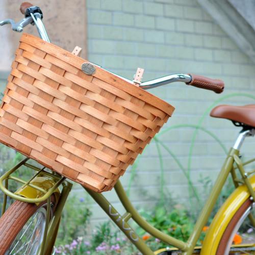 Peterboro Xstra Large Bicycle Basket Honey