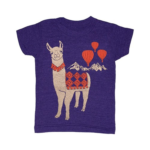 llama_kids_tshirt_hot_air_balloons_camel_cute gnome