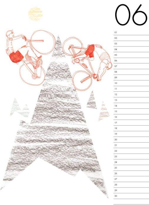 bicycle calendar 2018 自転車カレンダー